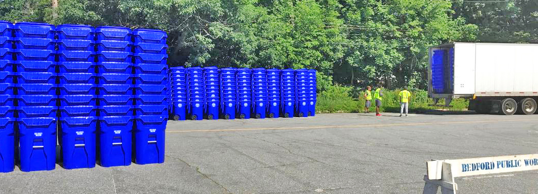 New Recycling Carts Delivered to the DPW Building